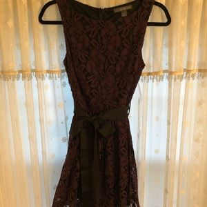 Forever 21 Floral Lace Purple Dress